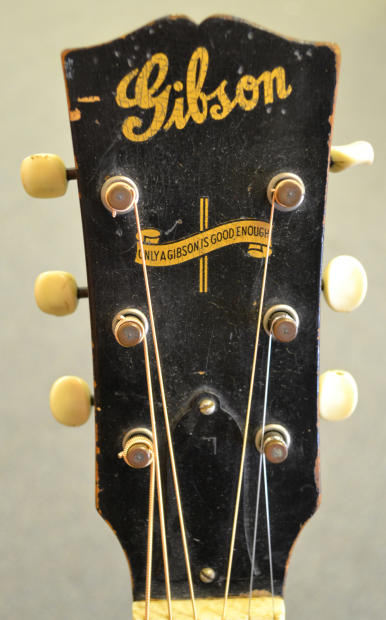 "Gibson Auto Sales >> Vintage 1942 Gibson LG-2 ""Banner headstock logo"" Rare ..."