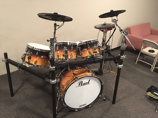 Pearl e-Pro Live, 8-Piece Electronic Drum Set with Rack ...