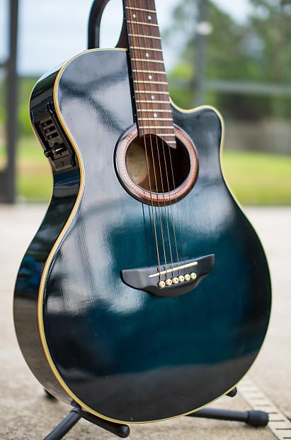 Yamaha apx 6a acoustic electric transparent blue burst for Apx guitar yamaha