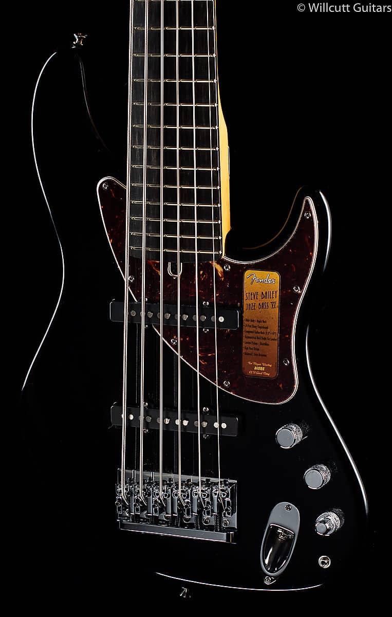 fender steve bailey vi string bass black 349 reverb. Black Bedroom Furniture Sets. Home Design Ideas