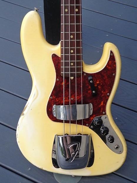 Fender Jazz Bass 1965 Olympic White Reverb