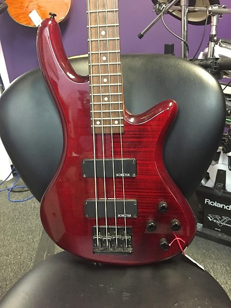 schecter diamond series bass gryphon flame maple top with reverb. Black Bedroom Furniture Sets. Home Design Ideas