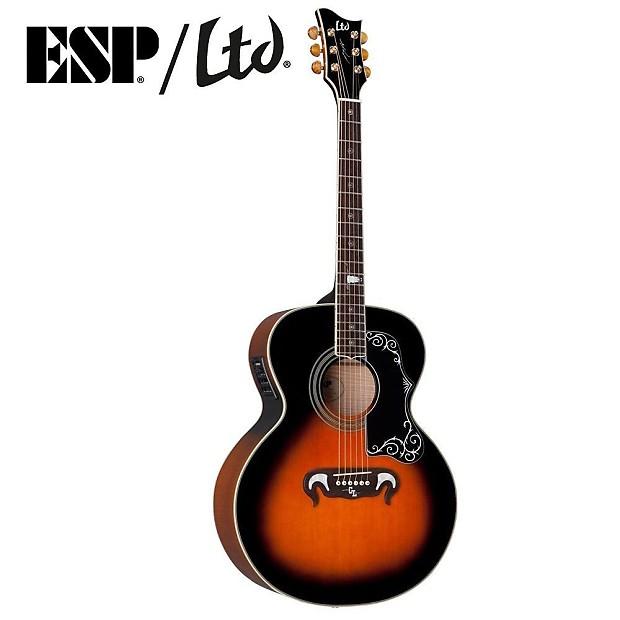 esp george lynch gl j1es tsb acoustic electric guitar kit w reverb. Black Bedroom Furniture Sets. Home Design Ideas