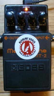 B-Stock Alchemy Audio Modified Boss MT-2 Metal Zone Distortion Effects Pedal Mod image