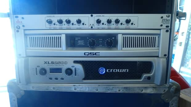crown xls 2500 qsc gx7 and dbx crossover 600 west fort reverb. Black Bedroom Furniture Sets. Home Design Ideas