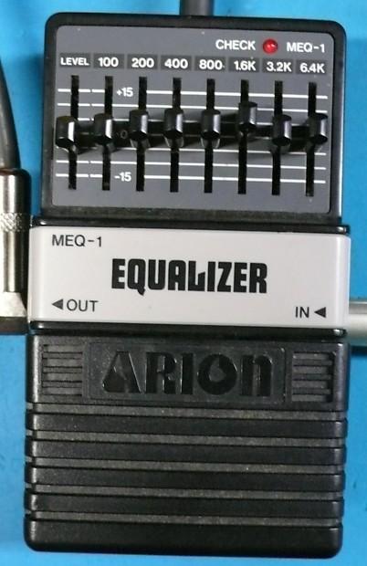 arion meq 1 7 band graphic eq equalizer guitar effects pedal reverb. Black Bedroom Furniture Sets. Home Design Ideas