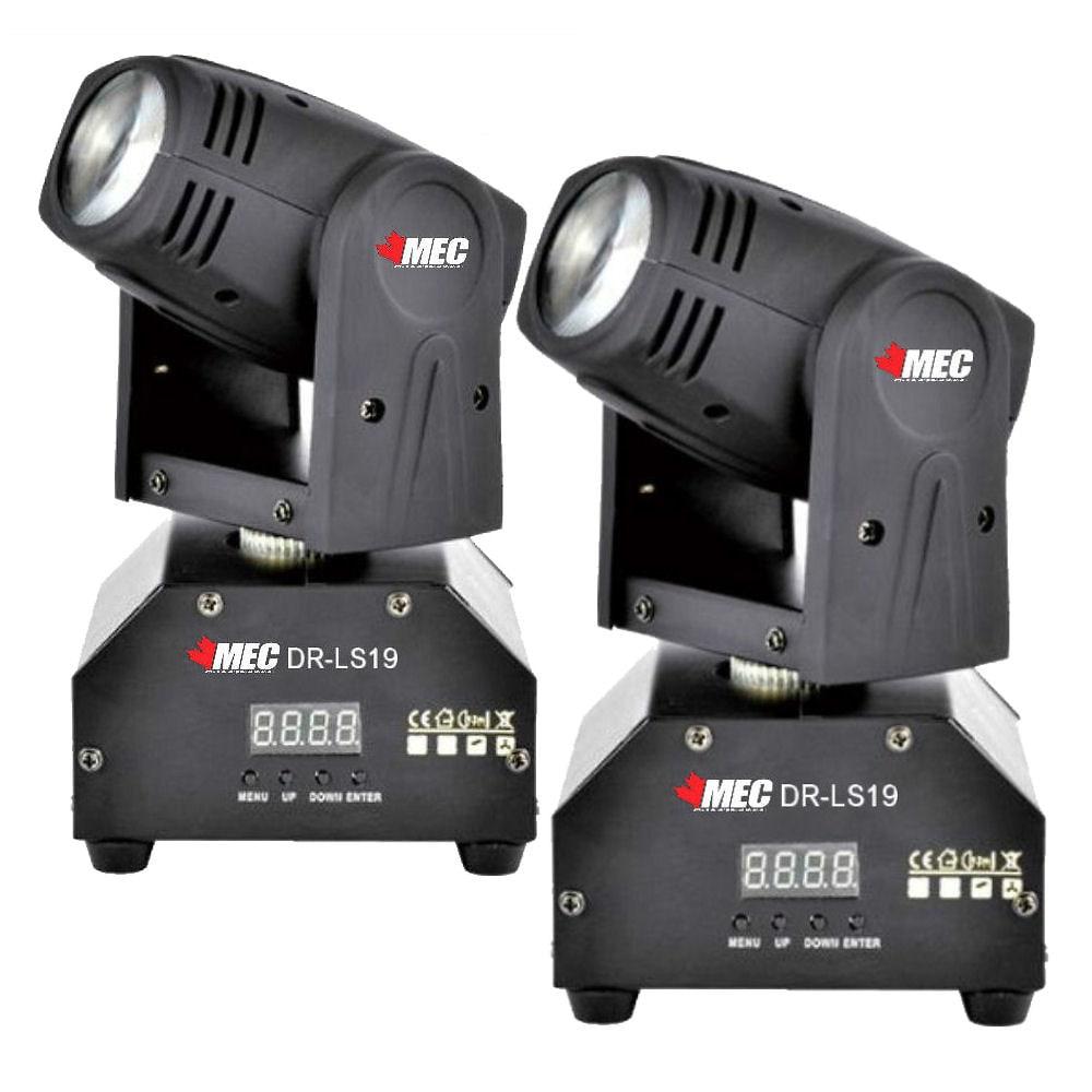 MEC DR-LS19 10W RGBW LED Mini Moving Head X2 Club dj Stage Lights DMX512 PARTY SHOW