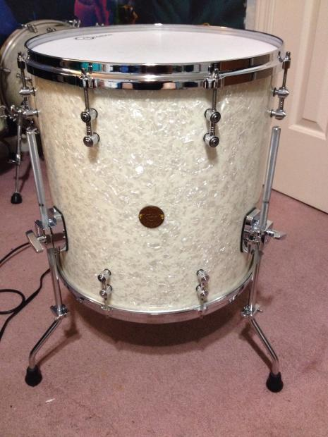 gretsch new classic 16 floor tom white marine pearl reverb. Black Bedroom Furniture Sets. Home Design Ideas