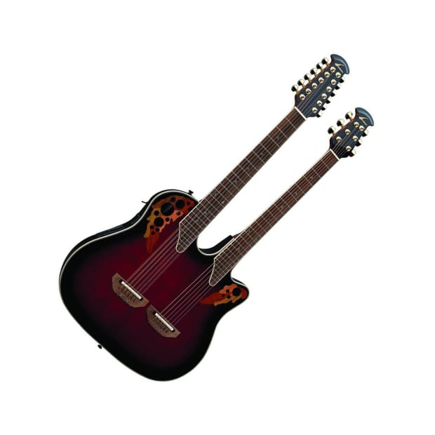 Ovation CSE225 Celebrity Double Neck Acoustic Guitar Ruby ...
