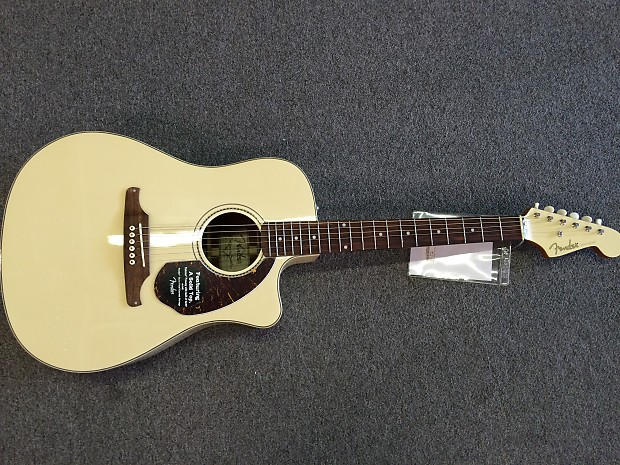 fender sonoran sce olympic white acoustic electric guitar reverb. Black Bedroom Furniture Sets. Home Design Ideas