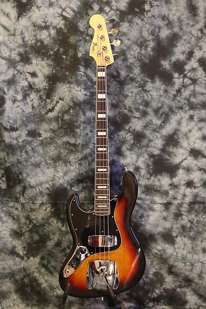 lefty fender 39 75 reissue jazz bass japan 3 tone sunburst 1975 reverb. Black Bedroom Furniture Sets. Home Design Ideas