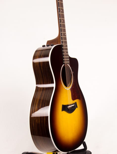 taylor 214ce dlx 2016 sunburst acoustic electric guitar reverb. Black Bedroom Furniture Sets. Home Design Ideas