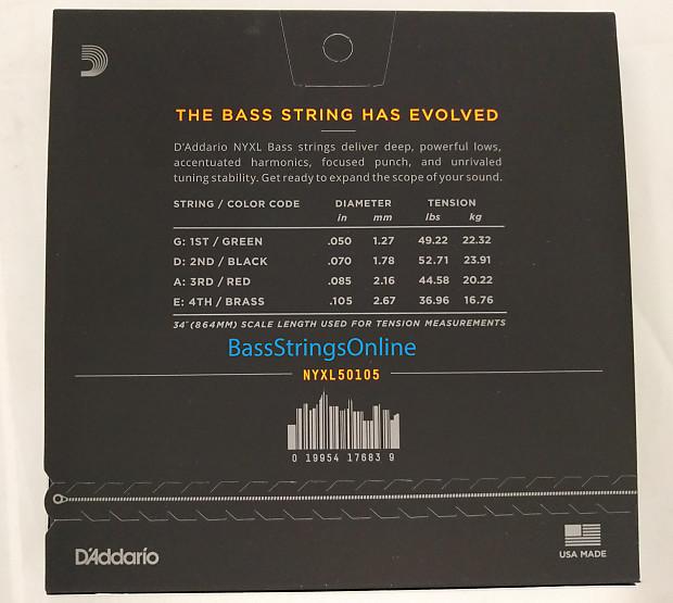 D'Addario NYXL Medium Nickel-Plated Electric Bass Strings ...