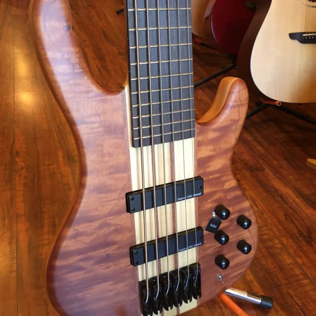 Wolf Flamed Bubinga Top 6 String Bass image