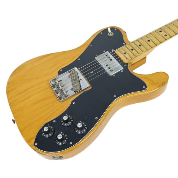 vintage 1975 fender telecaster custom electric guitar natural reverb. Black Bedroom Furniture Sets. Home Design Ideas