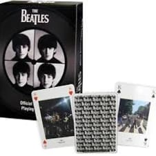 Beatles Playing Cards Black and White image