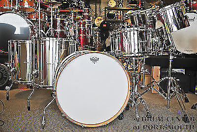 Dunnett classic stainless steel drum set with concert toms for 18x18 floor tom