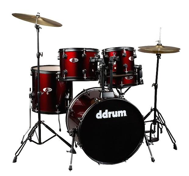 ddrum complete starter drum set red cymbals and hardware reverb. Black Bedroom Furniture Sets. Home Design Ideas