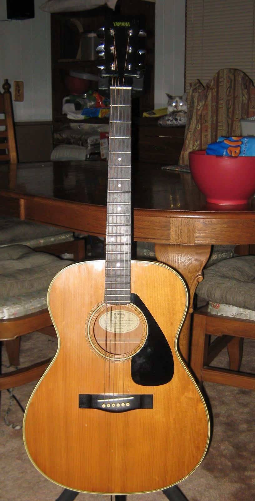 vintage yamaha sj 180 acoustic guitar beautiful lammy