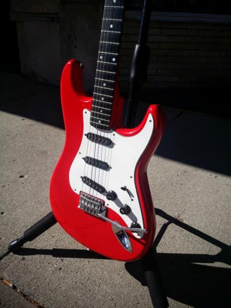 Bentley Series 10 Electric Guitar Red Reverb