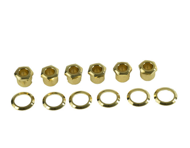 Kluson hex head tuner adapter bushings w washers gold