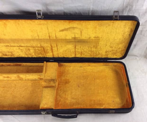 Vintage 1960 S Gibson Sg Electric Guitar Case Yellow