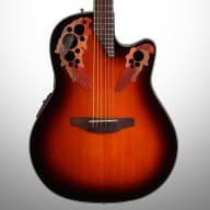 Ovation CE44 Celebrity Elite Mid-Depth Cutaway Acoustic-Electric Guitar, Sunburst for sale