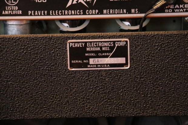 Peavey classic 50 50 seriennummer datierung
