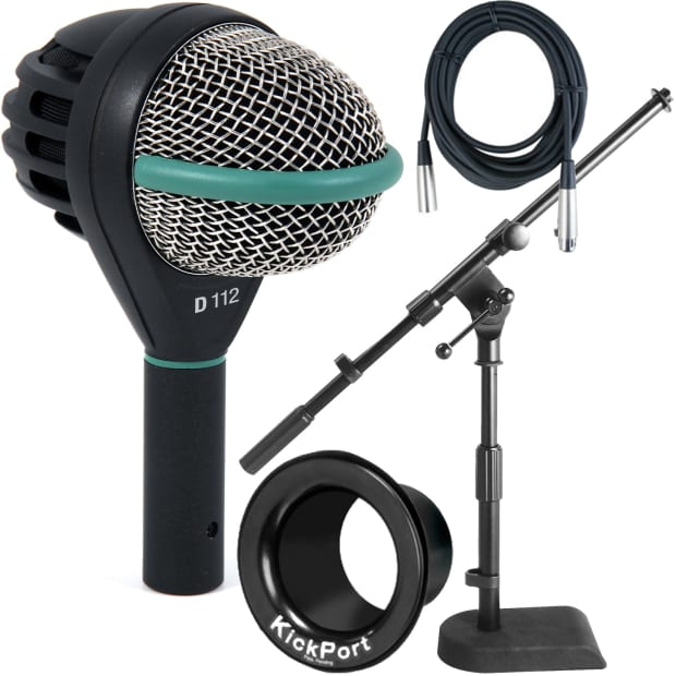 akg d 112 kick and bass drum microphone w mic stand cable reverb. Black Bedroom Furniture Sets. Home Design Ideas
