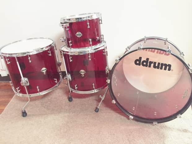 ddrum d10de22r red acrylic drum set reverb. Black Bedroom Furniture Sets. Home Design Ideas