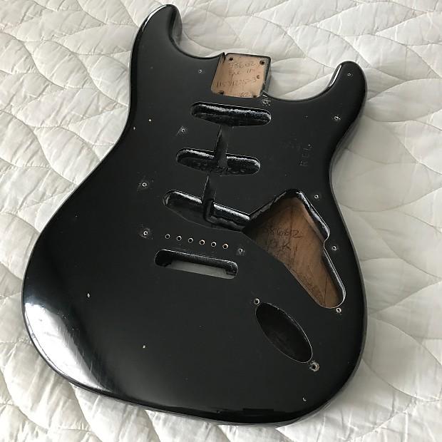 Sold Fender Custom Shop Stratocaster Body Black Journeyman Relic