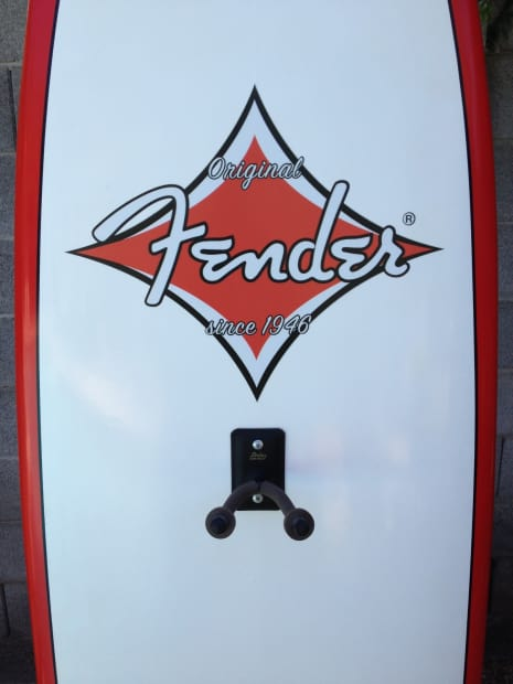 Fender Surfboard Instrument Display Stand 2005 Red White
