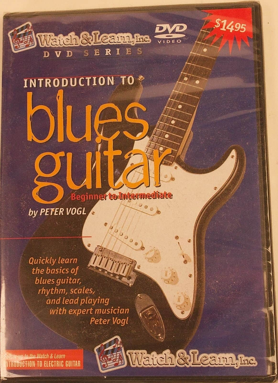 introduction to blues guitar beginner intermediate dvd peter reverb. Black Bedroom Furniture Sets. Home Design Ideas