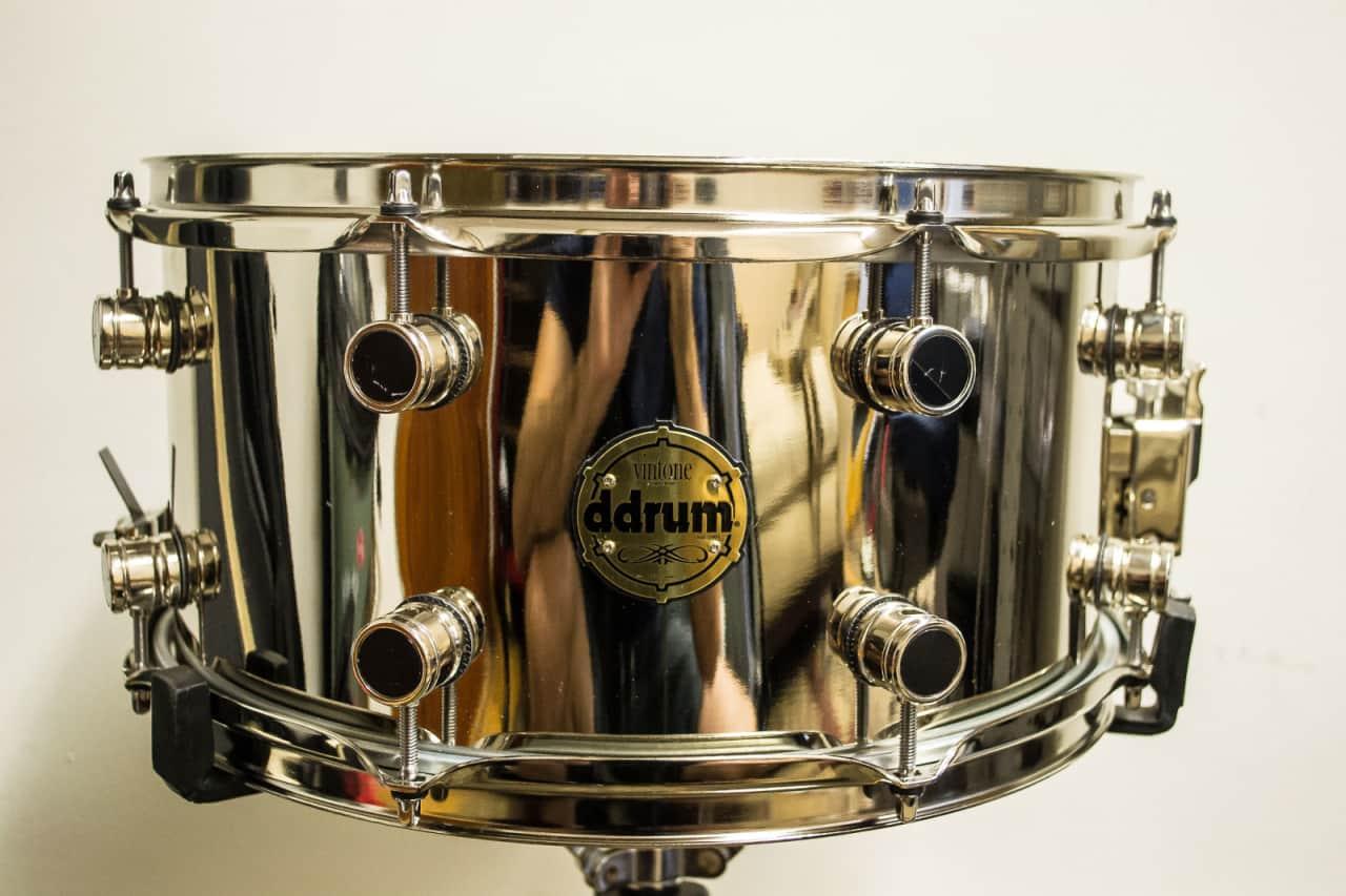 mint ddrum 7x14 nickel over brass snare drum in chrome reverb. Black Bedroom Furniture Sets. Home Design Ideas