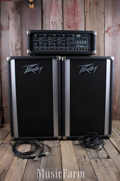 Peavey Xr400 Pa System With 2 Peavey 112 Pt Pa Speakers