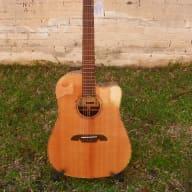 <p>Alvarez Masterworks MDA70CE All Solid Ac/El Dreadnought Guitar #1861</p>  for sale