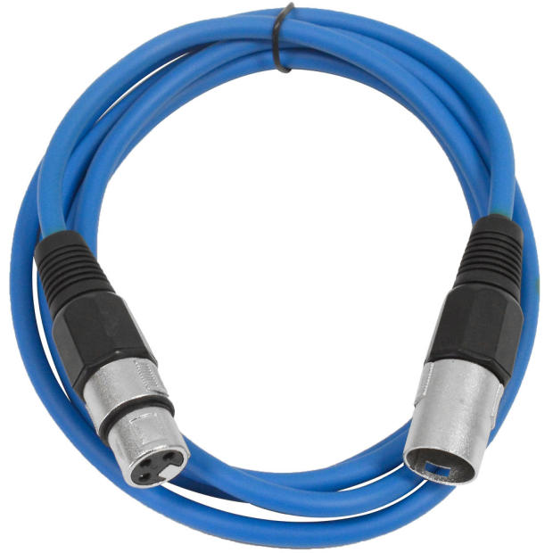 Microphone Cable Snake : Seismic audio blue xlr patch cable snake mic cord