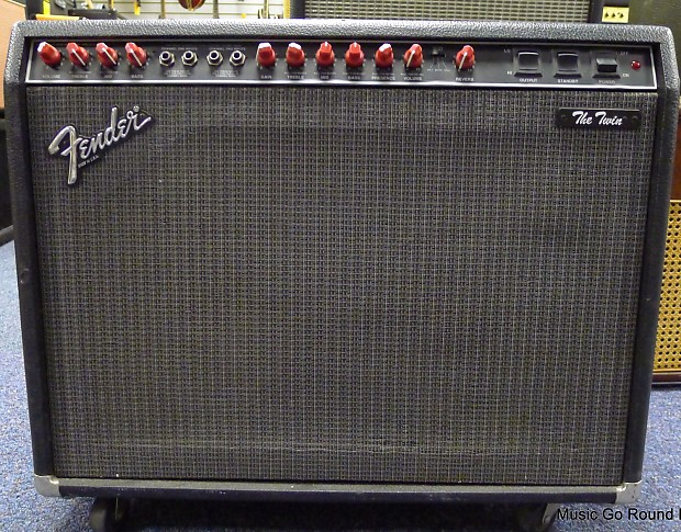 """Fender The Twin RED KNOB """"Evil Twin"""" Tube Combo Amp 