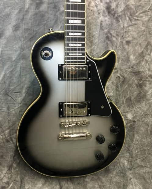 epiphone les paul custom pro silverburst electric guitar reverb. Black Bedroom Furniture Sets. Home Design Ideas