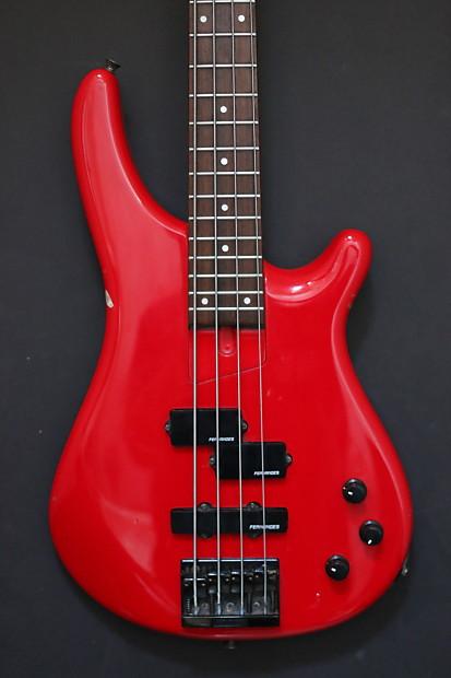 fernandes electric 4 string bass ferrari red p j pickups reverb. Black Bedroom Furniture Sets. Home Design Ideas