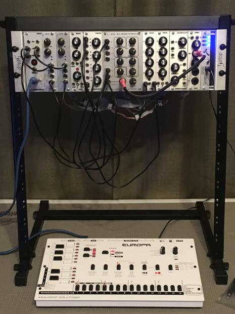 custom eurorack modular synth full synth rack and cables reverb. Black Bedroom Furniture Sets. Home Design Ideas