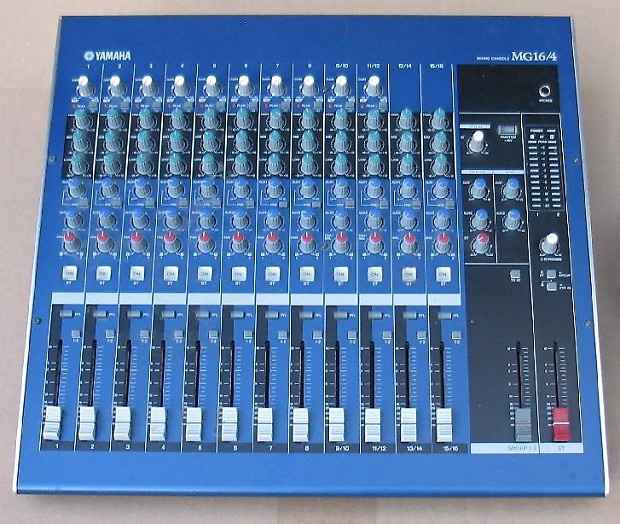 Yamaha mg16 4 multi channel analog 4 buss audio mixer reverb for Yamaha 16 channel mixer mg16 4