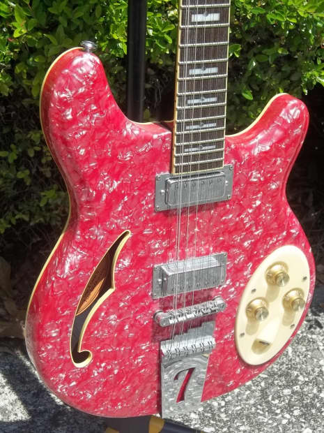 italia rimini 12 string electric guitar red pearloid w gig reverb. Black Bedroom Furniture Sets. Home Design Ideas