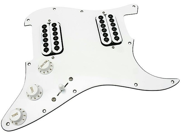 hdcustom loaded stratocaster pickguard  seymour duncan