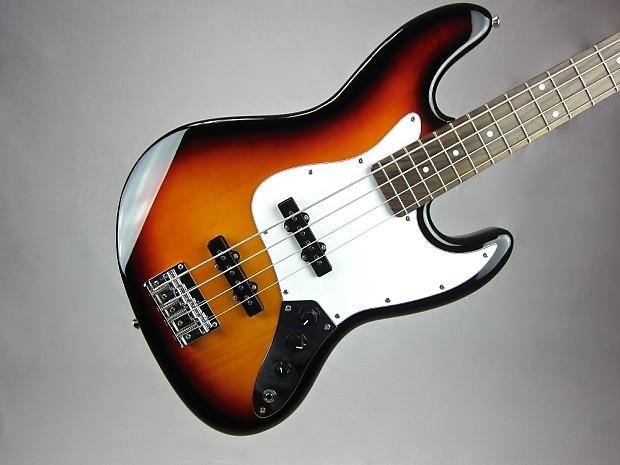 aria stb jb electric bass guitar 4 string vintage sunburst reverb. Black Bedroom Furniture Sets. Home Design Ideas