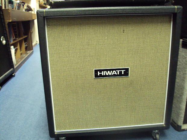 Marshall w/ Hi Watt Badge 4-12 Guitar speaker Cabinet 1999 Black Made in  U.K.