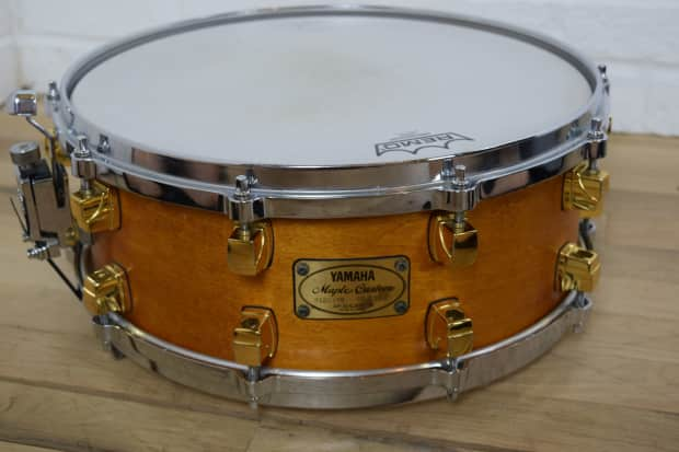 Yamaha maple custom 14x5 5 snare drum excellent used snare for Yamaha stage custom steel snare drum 14x6 5