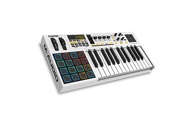m audio code 25 usb midi controller keyboard for garageband reverb