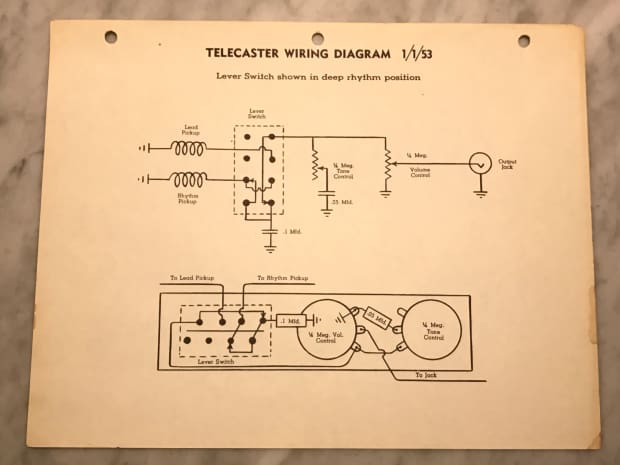 Fender Telecaster Wiring Diagram On Vintage Telecaster Wiring Diagram