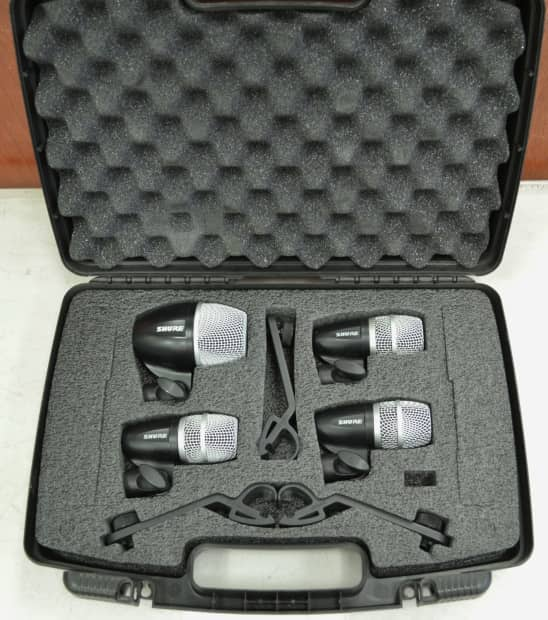 shure pgdmk4 xlr 4pc drum microphone mic set kit 3 pg56 reverb. Black Bedroom Furniture Sets. Home Design Ideas